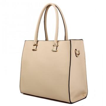 Béžová elegantní dámská kabelka do ruky i na rameno Gariel e01ef4f98df