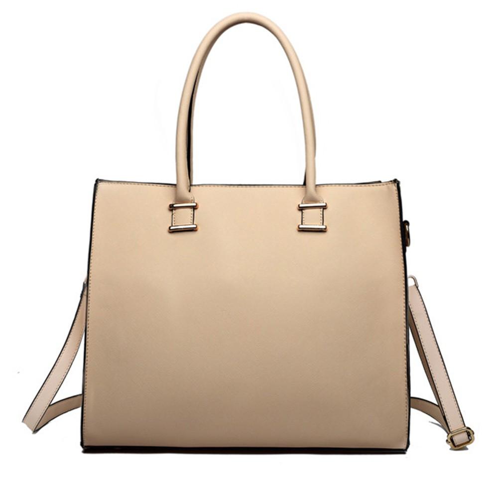 Béžová elegantní dámská kabelka do ruky i na rameno Gariel  355dee8a92f