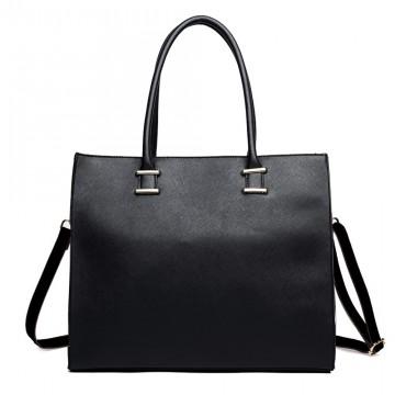 Černá elegantní dámská kabelka do ruky i na rameno Gariel 4a88cb701e2