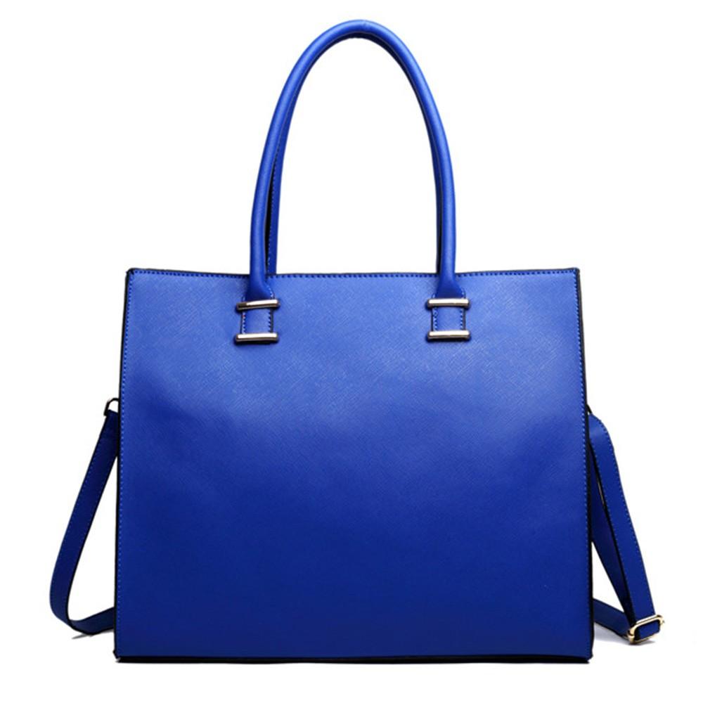 fb4d167873 Modrá elegantní dámská kabelka do ruky i na rameno Gariel
