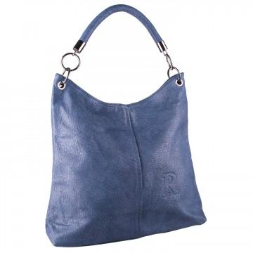 d2335299b7ba Modrá moderní velká kabelka přes rameno Nathali