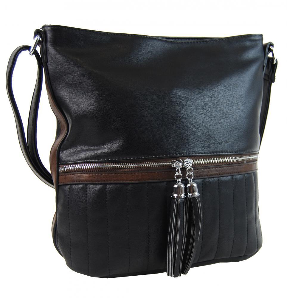 Černá dámská elegantní crossbody kabelka Klien
