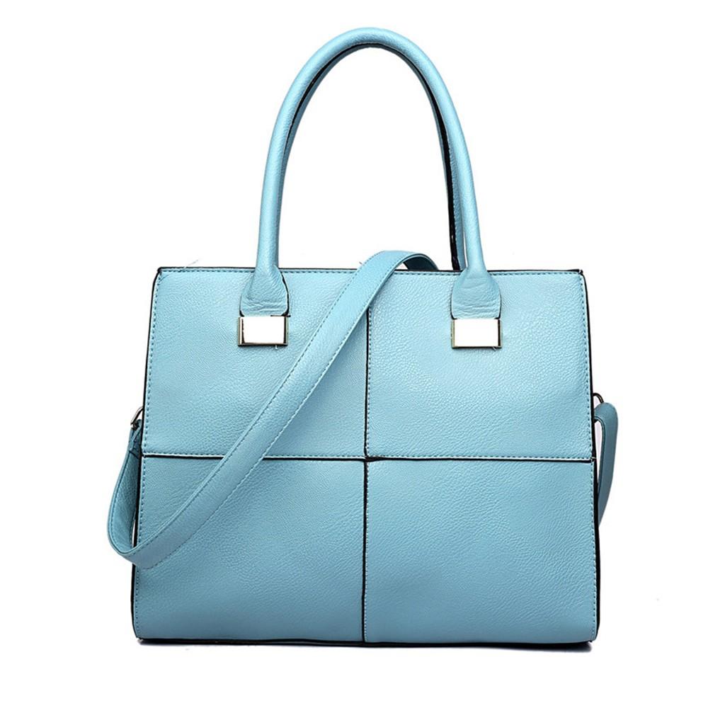 Světle modrá netradiční kvalitní dámská kabelka Ladriel