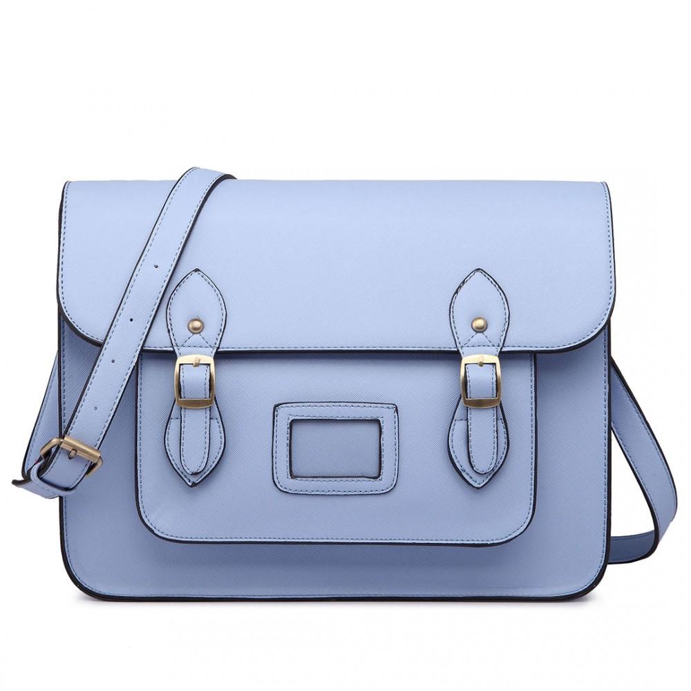 Modrá dámská kufříková kabelka Praliel