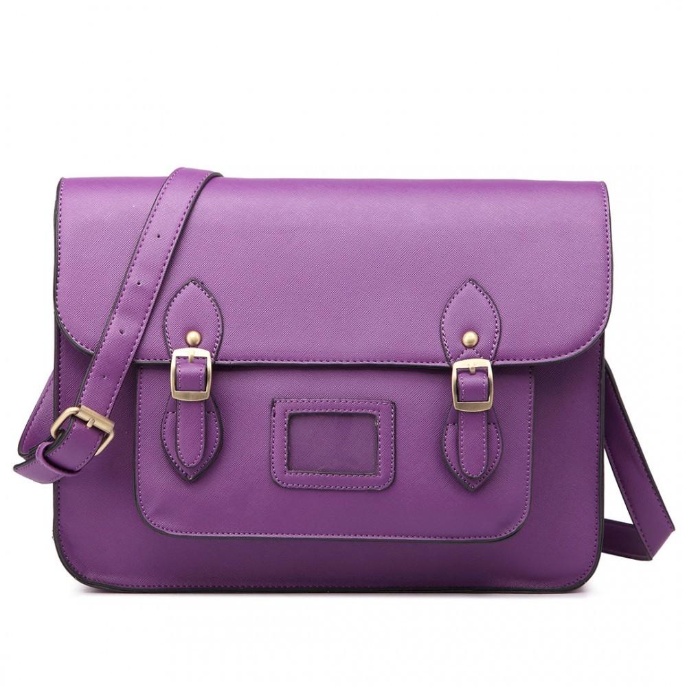 Fialová dámská kufříková kabelka Praliel