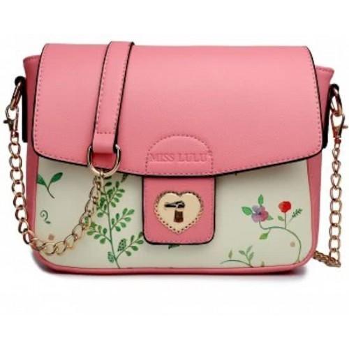 Růžová malá dámská crossbody kabelka Maken