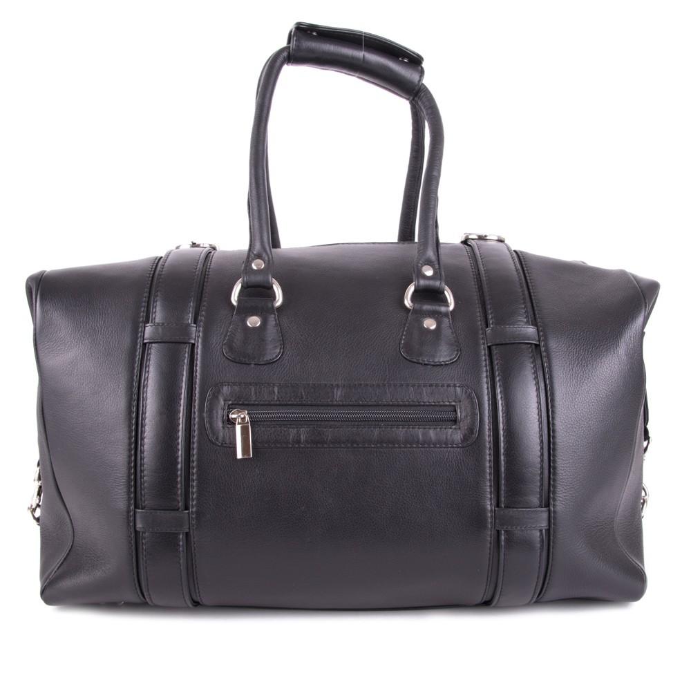 Černá velká kožená cestovní taška Ventlie
