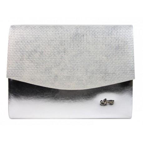 Měsíčně stříbrné luxusní brokátové psaníčko Hernie