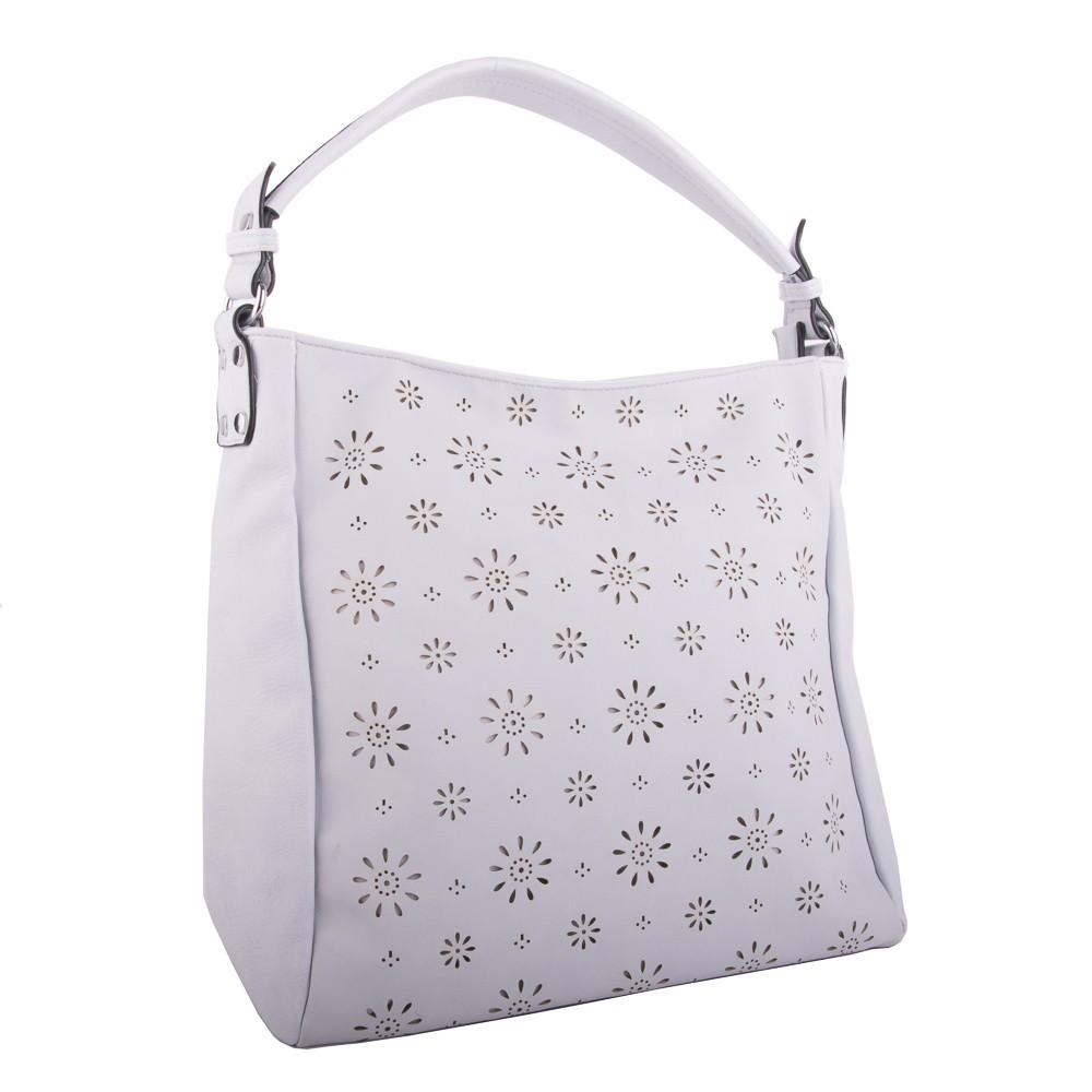 Světle modrá dámská crossbody kabelka s květinovým vzorem Šimen ... 571fd8802ea
