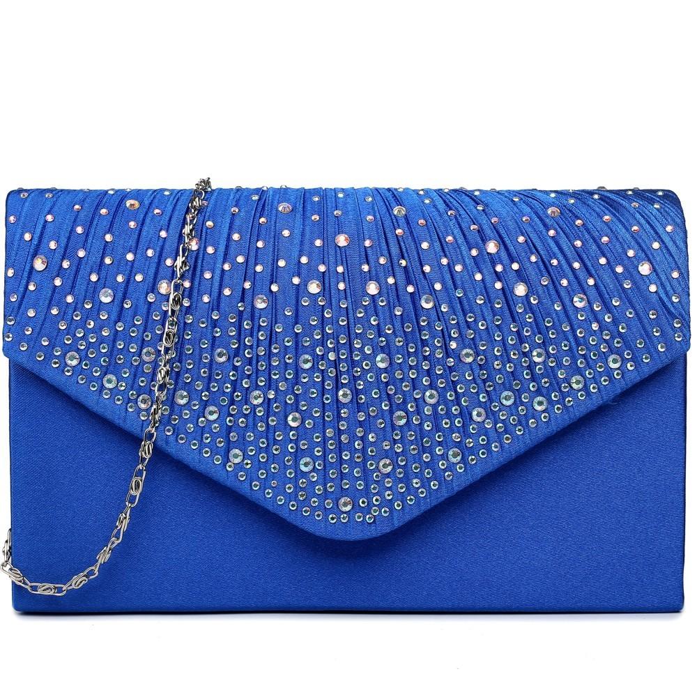 Modrá společenská dámská kabelka Linlen