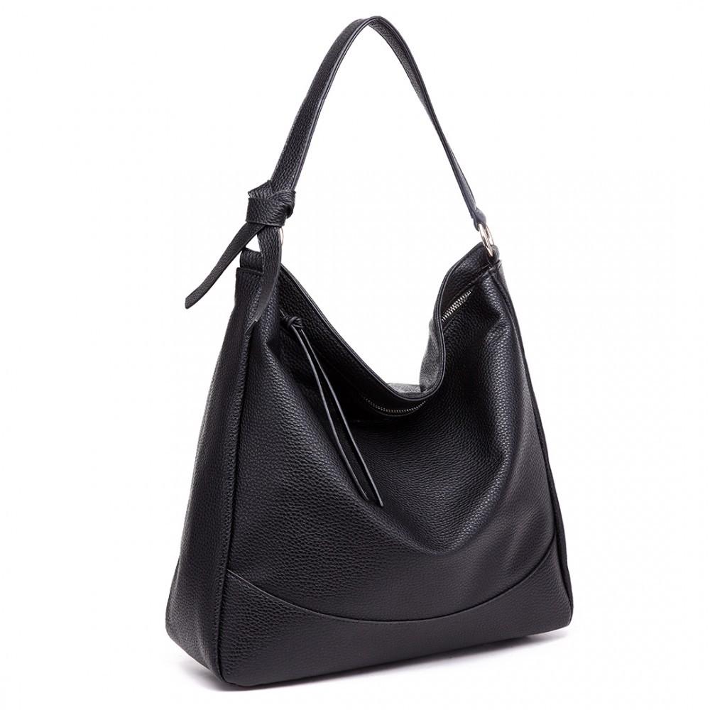 Černá prostorná dámská kabelka Sollie