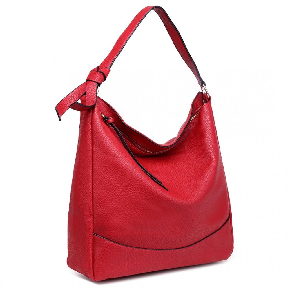 Červená prostorná dámská kabelka Sollie