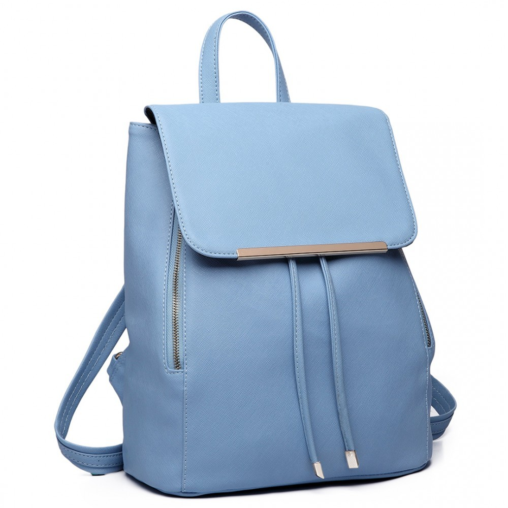 5513c387bf Světle modrý stylový dámský modní batoh Frell