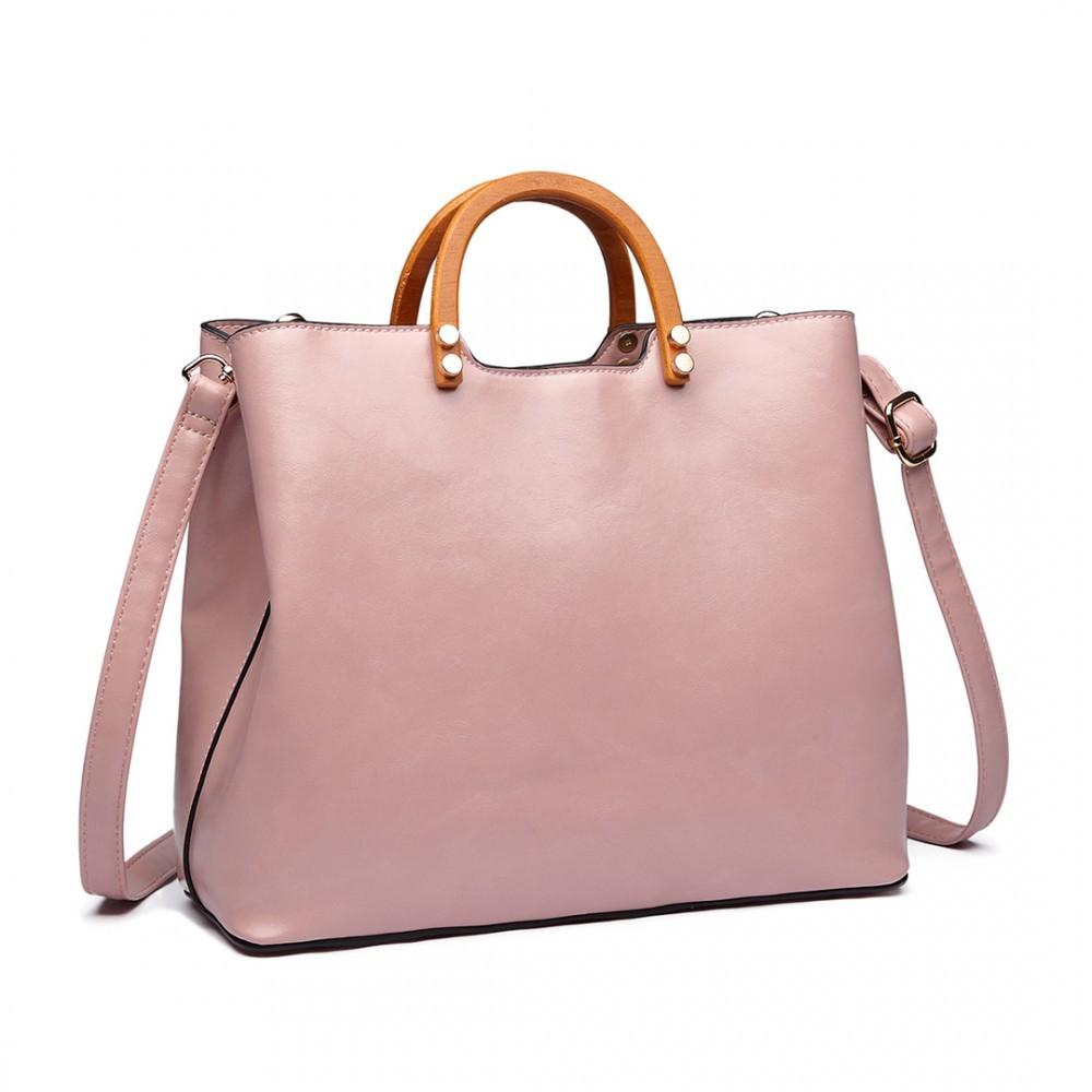 2b0cd207e6 Růžová dámská luxusní kabelka do ruky Robie
