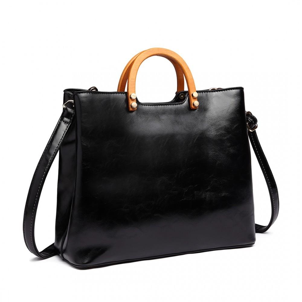 3ba006b226 Černá dámská luxusní kabelka do ruky Robie