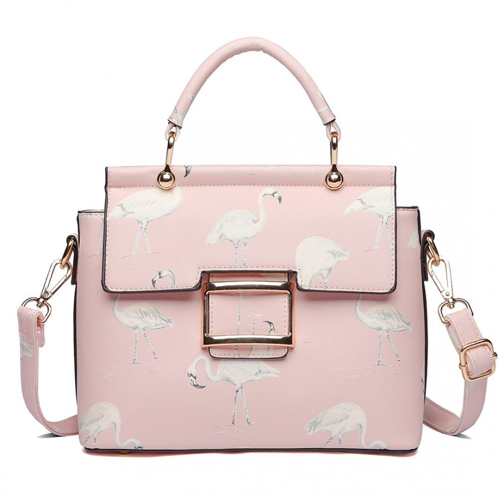 Růžová dámská moderní kabelka přes rameno Cloudi  5bd742e7e68