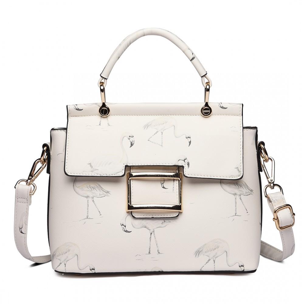 Bílá dámská moderní kabelka přes rameno Cloudi