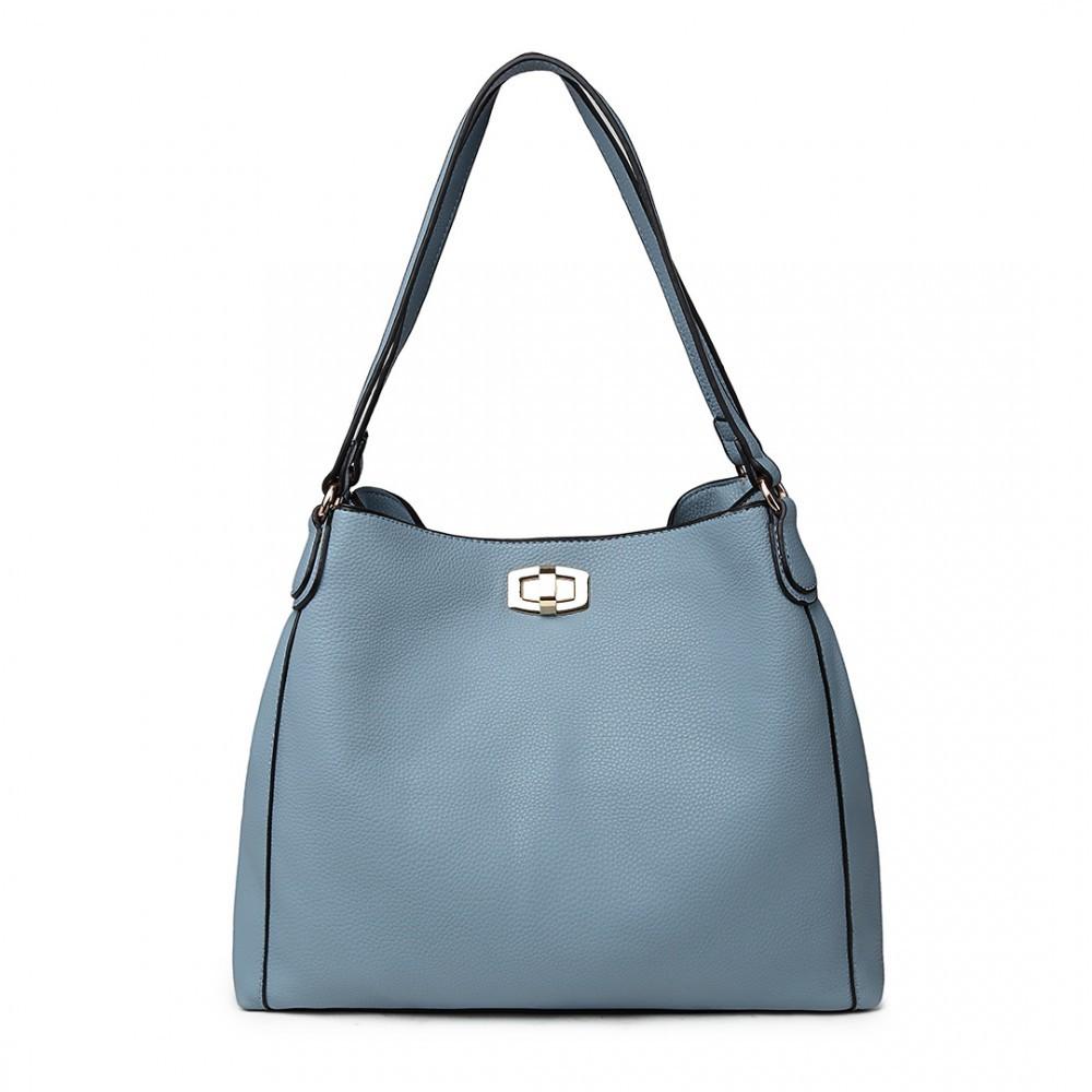 Světle modrá dámská hobo kabelka přes rameno Eliel