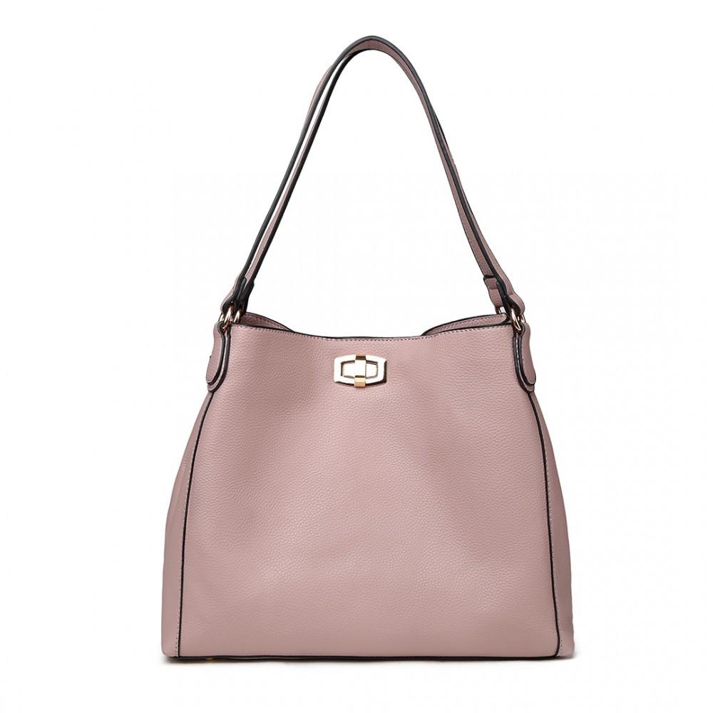 Růžová dámská hobo kabelka přes rameno Eliel