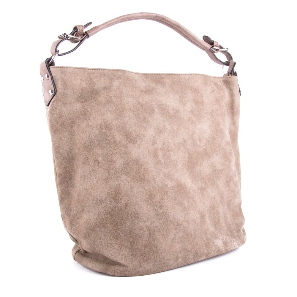 Šedo hnědá velká dámská kabelka přes rameno Sebie