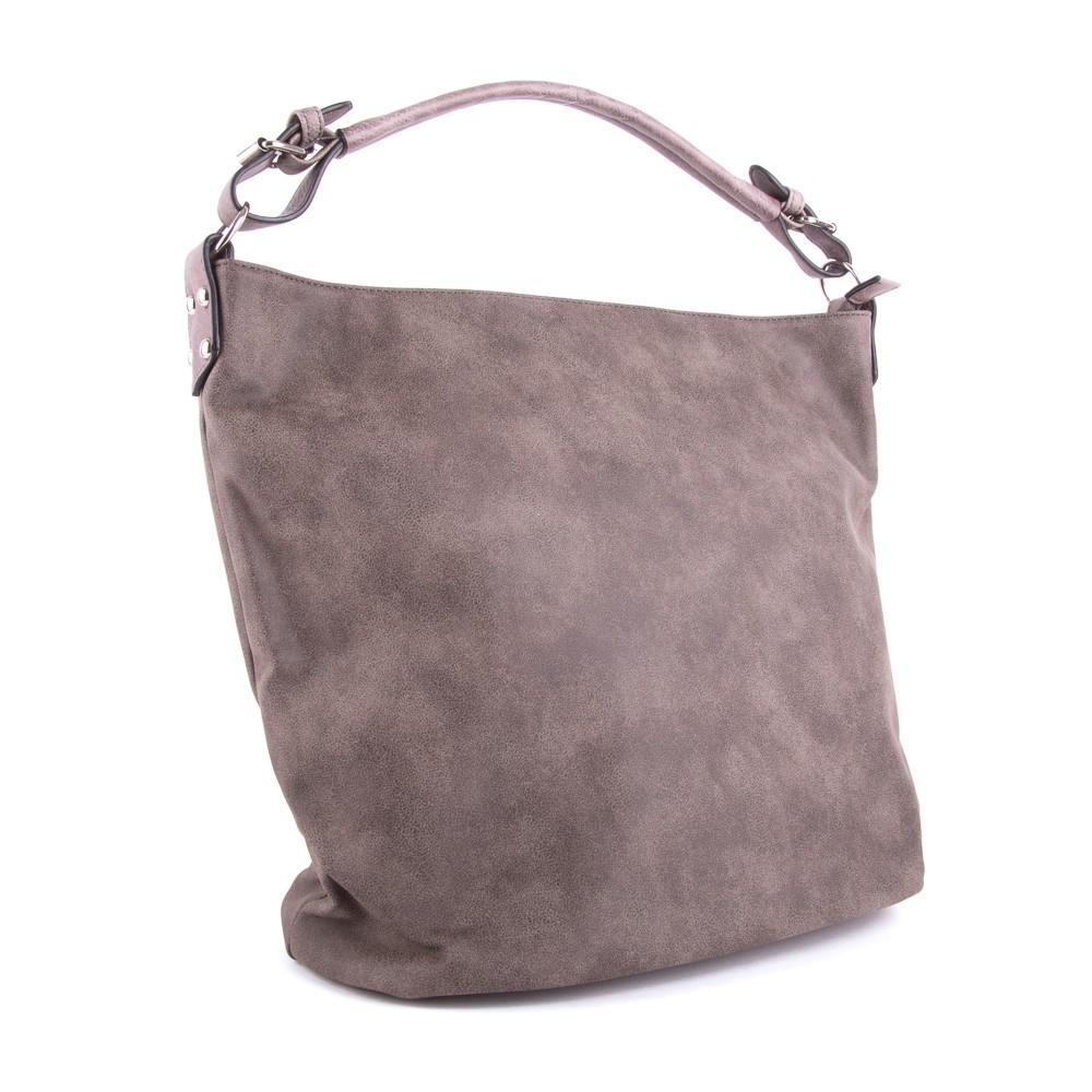 Taupe velká dámská kabelka přes rameno Sebie