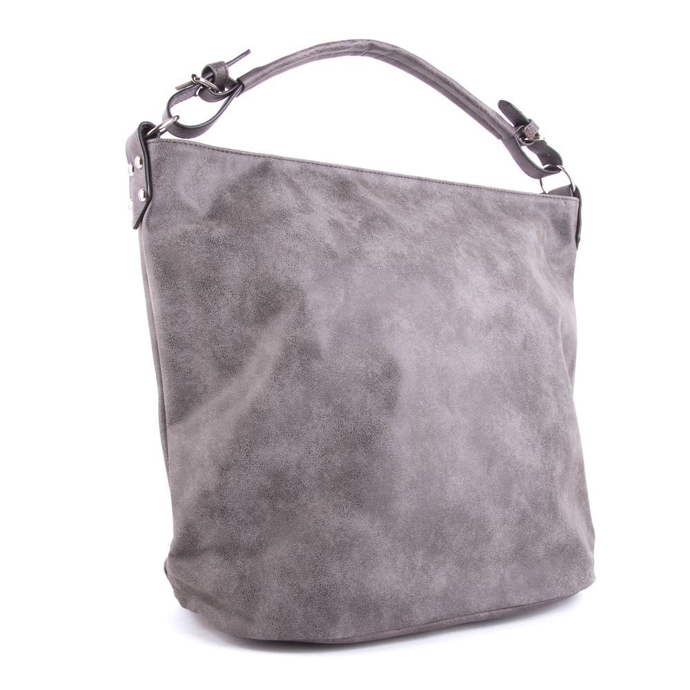 Šedá velká dámská kabelka přes rameno Sebie