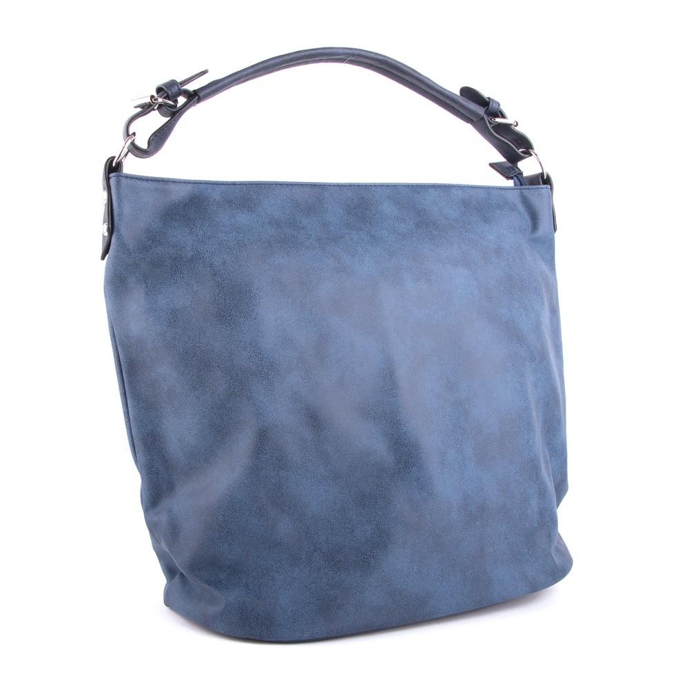 Modrá velká dámská kabelka přes rameno Sebie