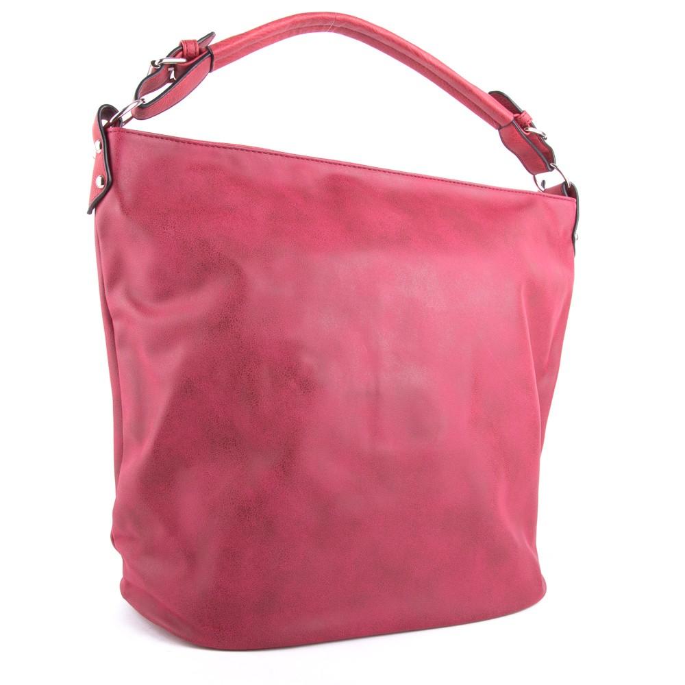 Červená velká dámská kabelka přes rameno Sebie