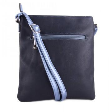 Tmavě modrá moderní dámská crossbody kabelka Jistien 5eee4e5346a