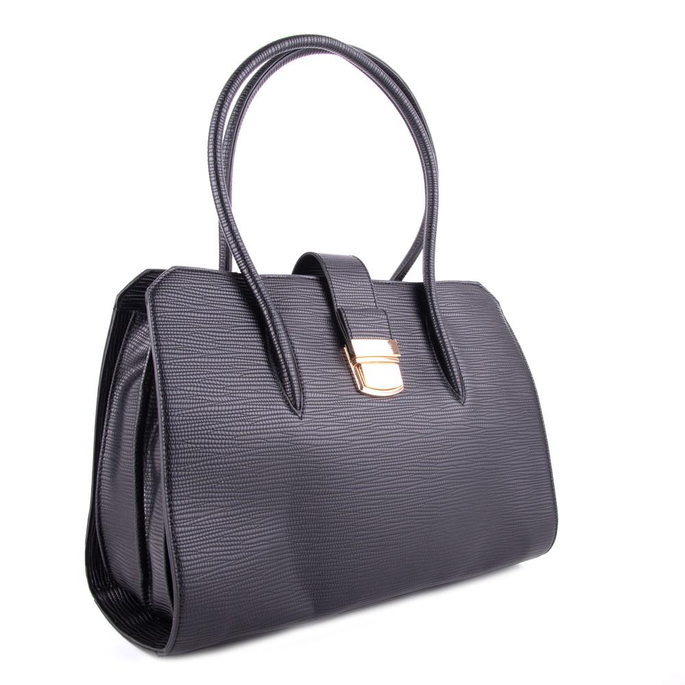 Černá dámská luxusní kabelka s netradičním vzorem Nezlien