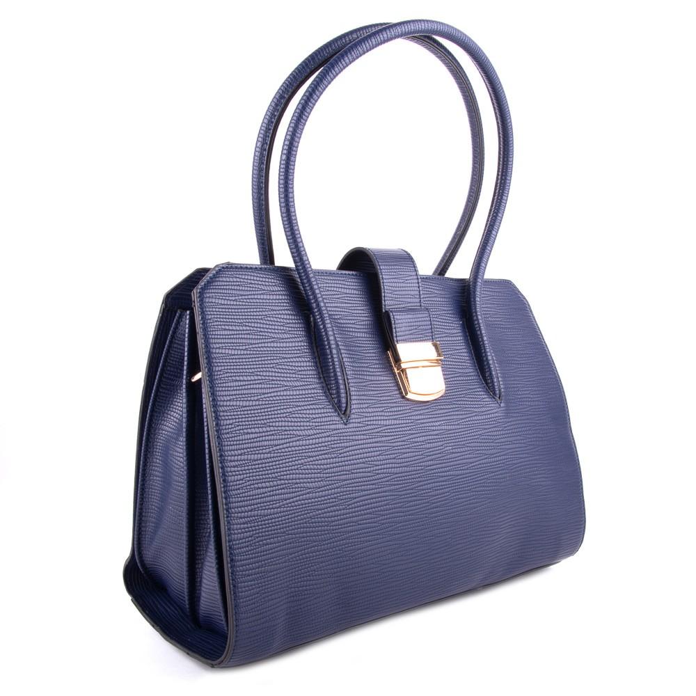 Modrá dámská luxusní kabelka s netradičním vzorem Nezlien