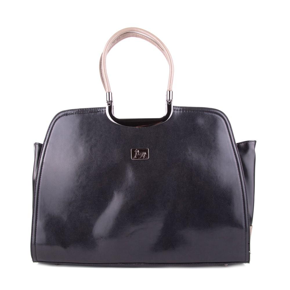 Tmavě šedá luxusní dámská kabelka Deilel