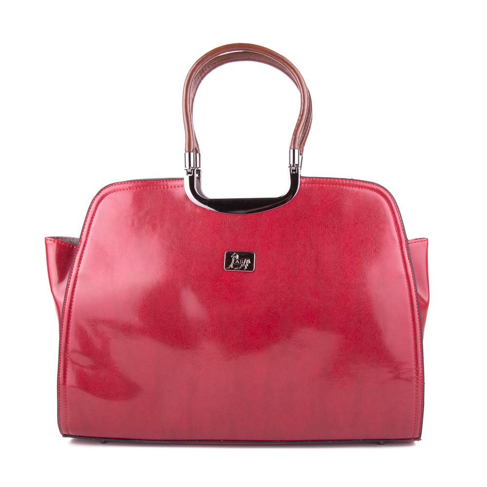 Červená luxusní dámská kabelka Deilel