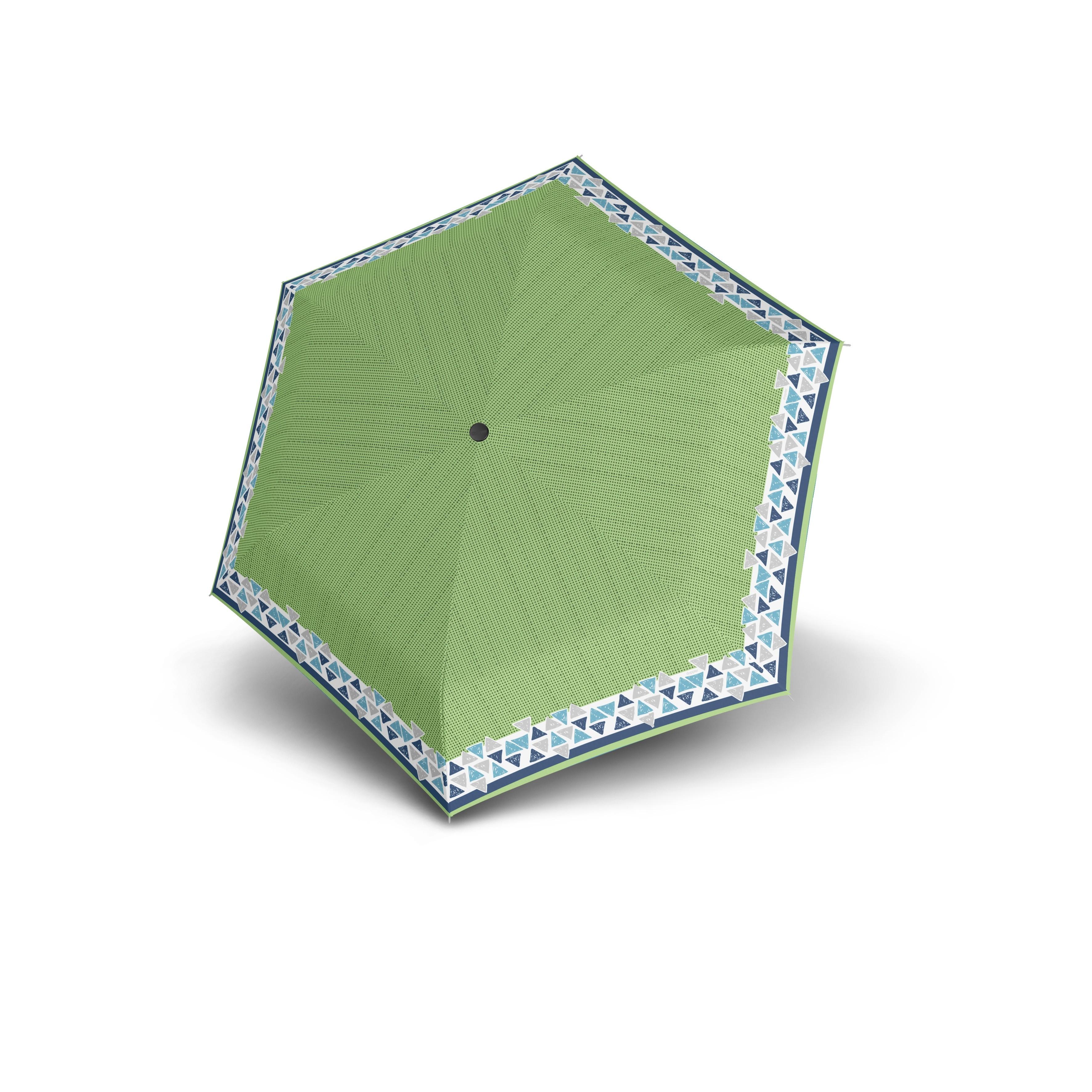 Zelený skládací mechanický dámský deštník Atakami