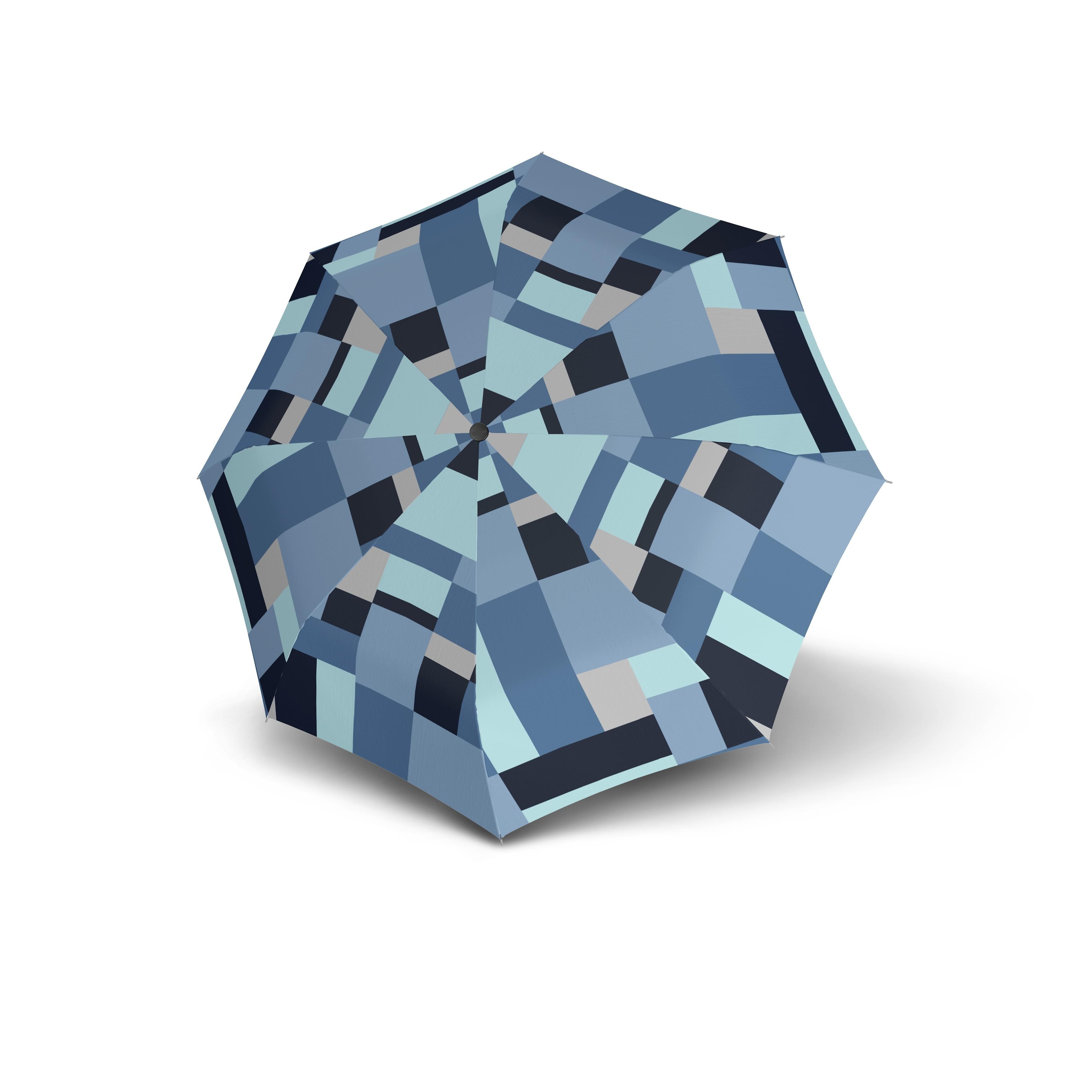Modrý skladací automatický dámský deštník Alsea