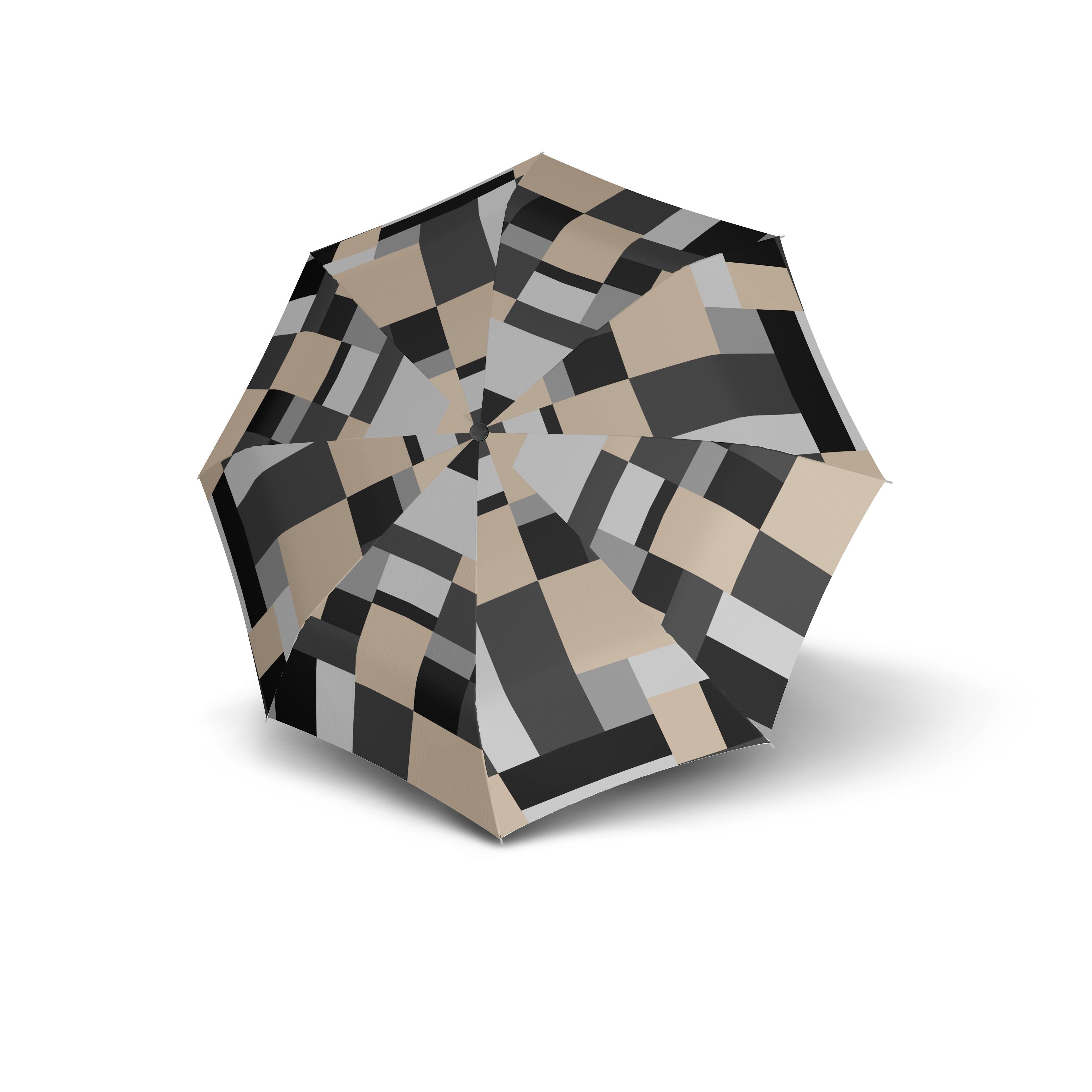 Šedý skladací automatický dámský deštník Alsea