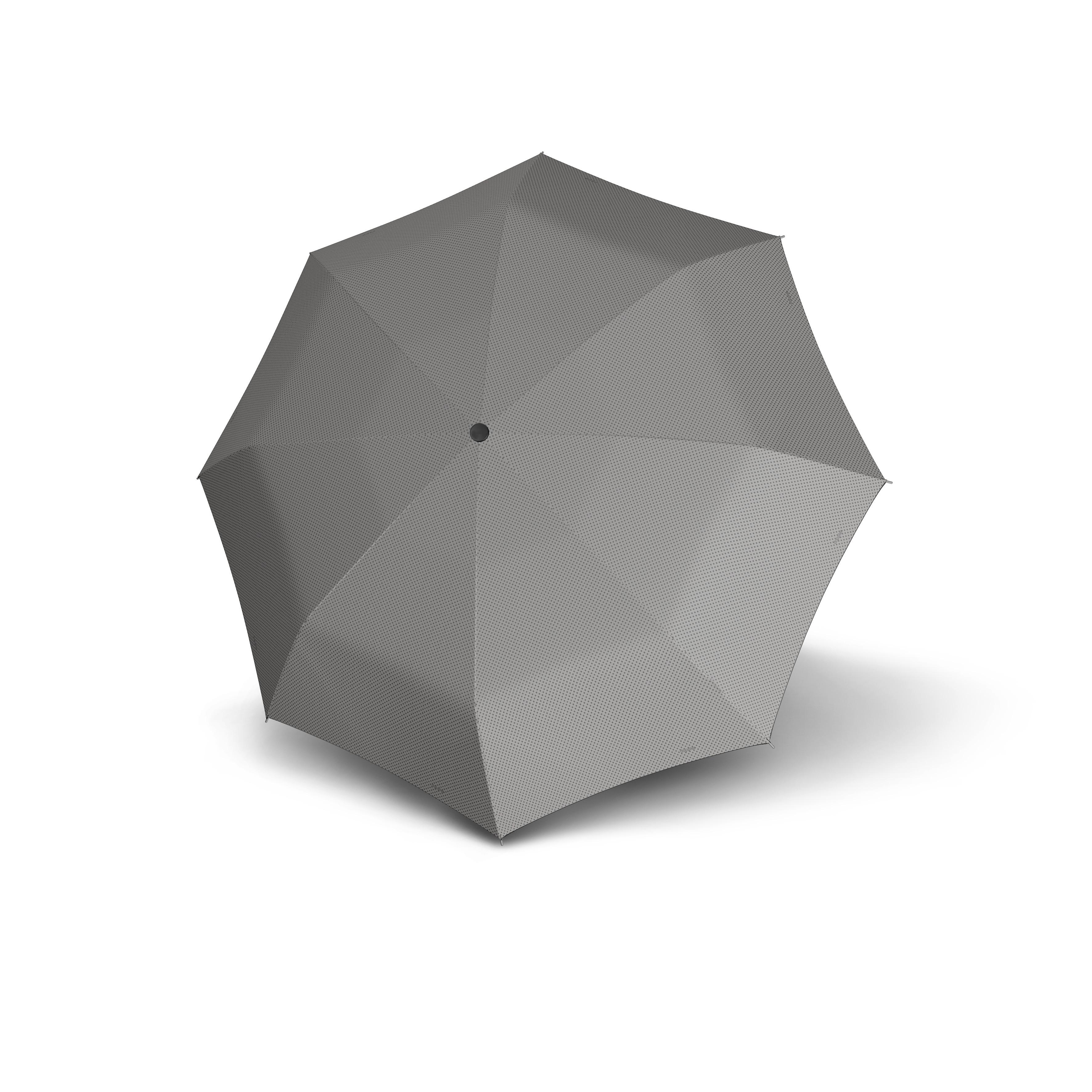 Šedý skládací mechanický dámský deštník Bruan