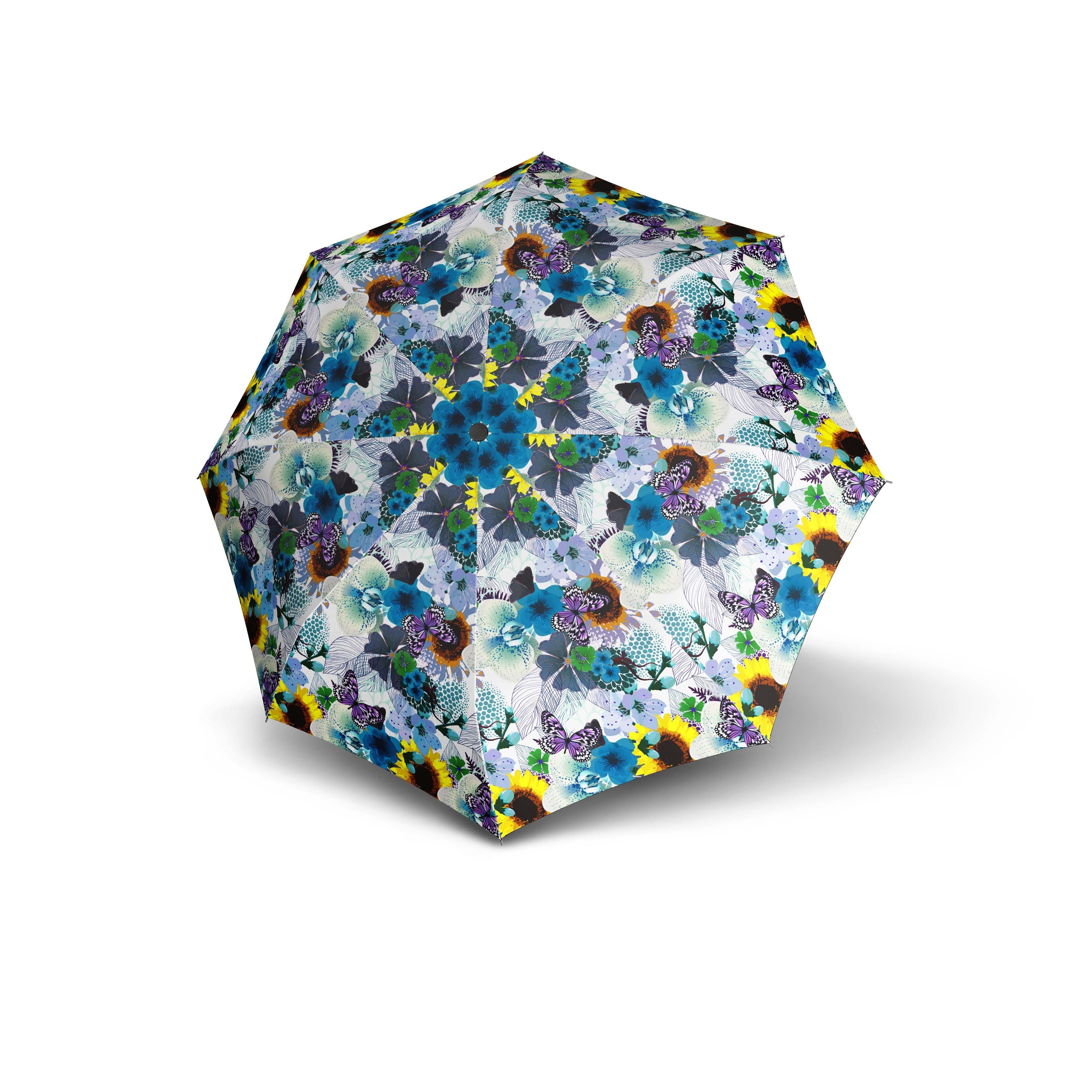 Modrý skládací vystřelovací dámský deštník Atikal