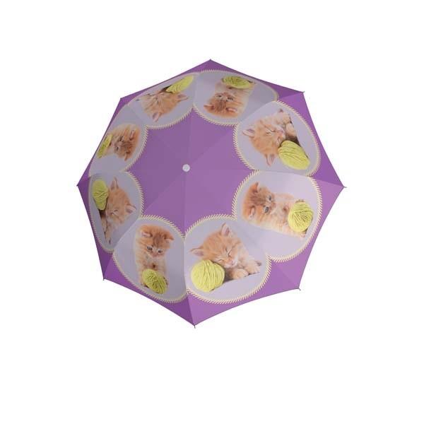 Dětský vystřelovací deštník s motivem kočky Caitlin
