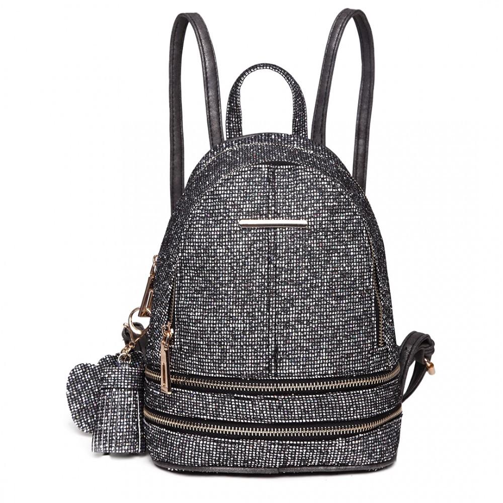 Černý dámský moderní zajímavý batoh Zavien de02c6ab69
