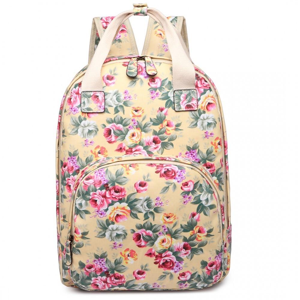 Béžový květinový moderní dámský batoh Vlasten cd8134af55
