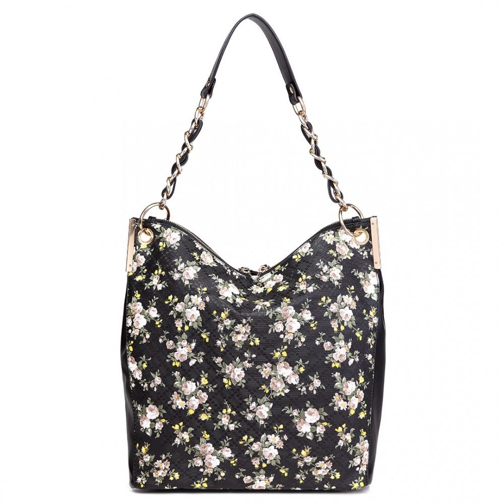 8bd44d68ca Černá dámská květinová prostorná kabelka Leipen Toto zboží si právě  prohlíží 25 zákazníků. Previous. LT1741 BK