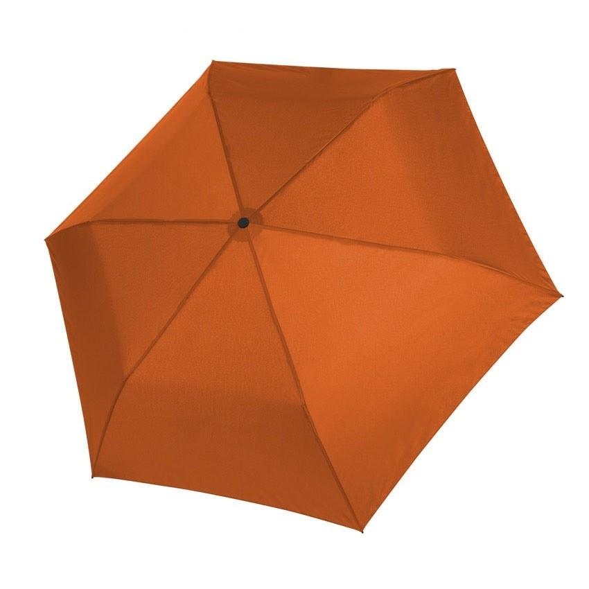 Oranžový dámský i dětský skládací mechanický deštník Aline