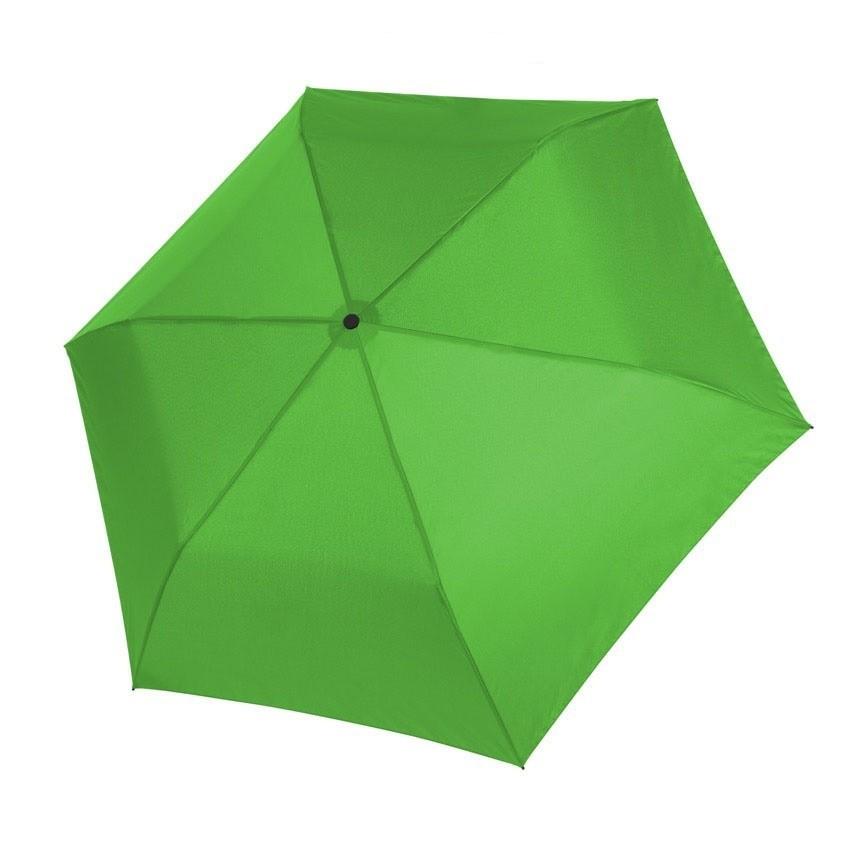 Zelený dámský i dětský skládací mechanický deštník Aline