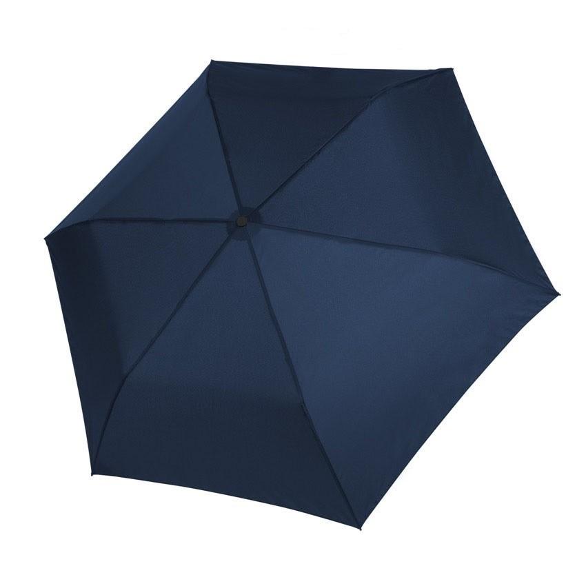 Modrý dámský i dětský skládací mechanický deštník Aline