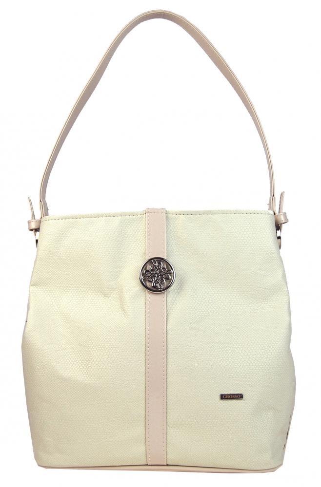 Smetanově béžová kabelka na rameno Dalia  79b5a541e3f