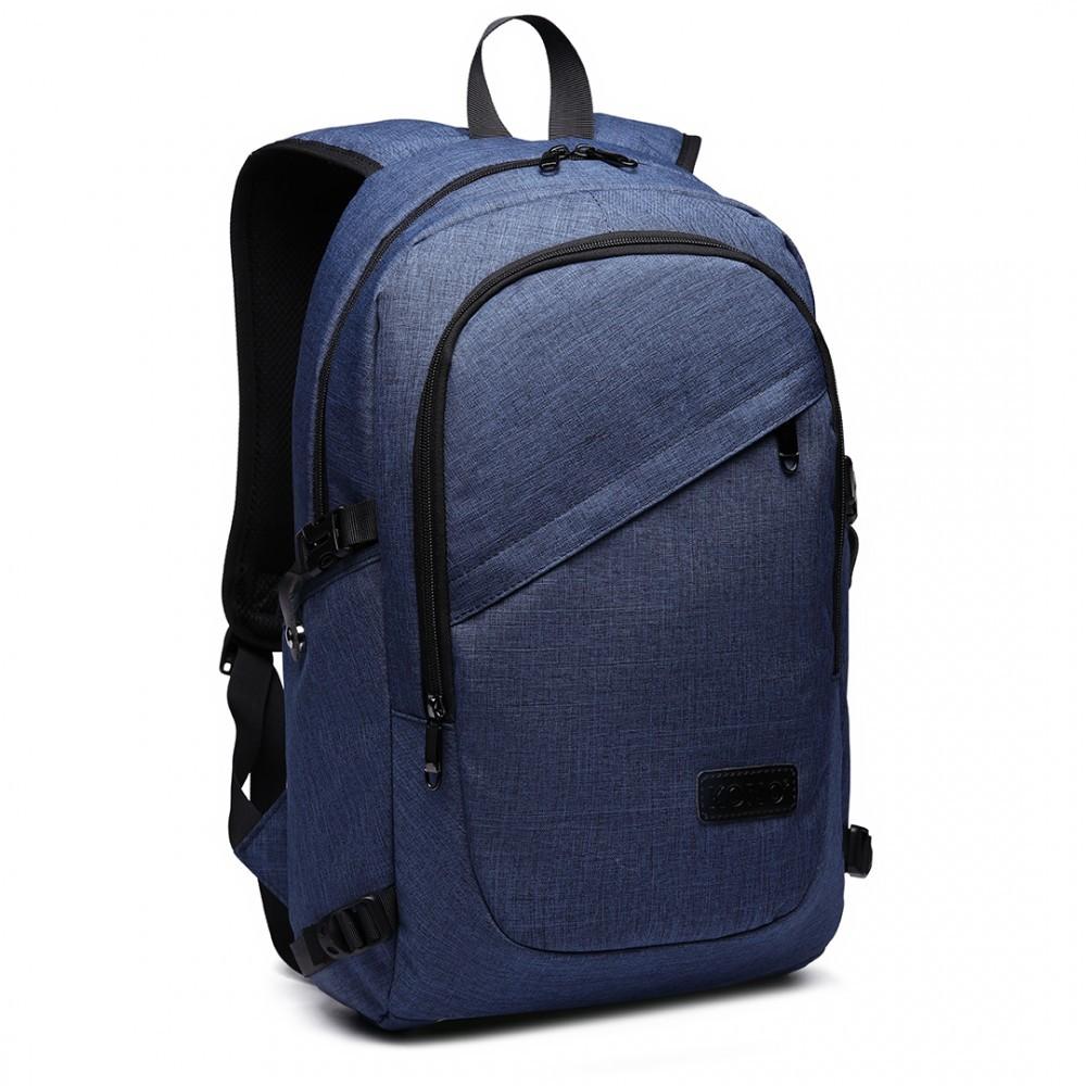 Modrý moderní batoh s USB portem Acxa