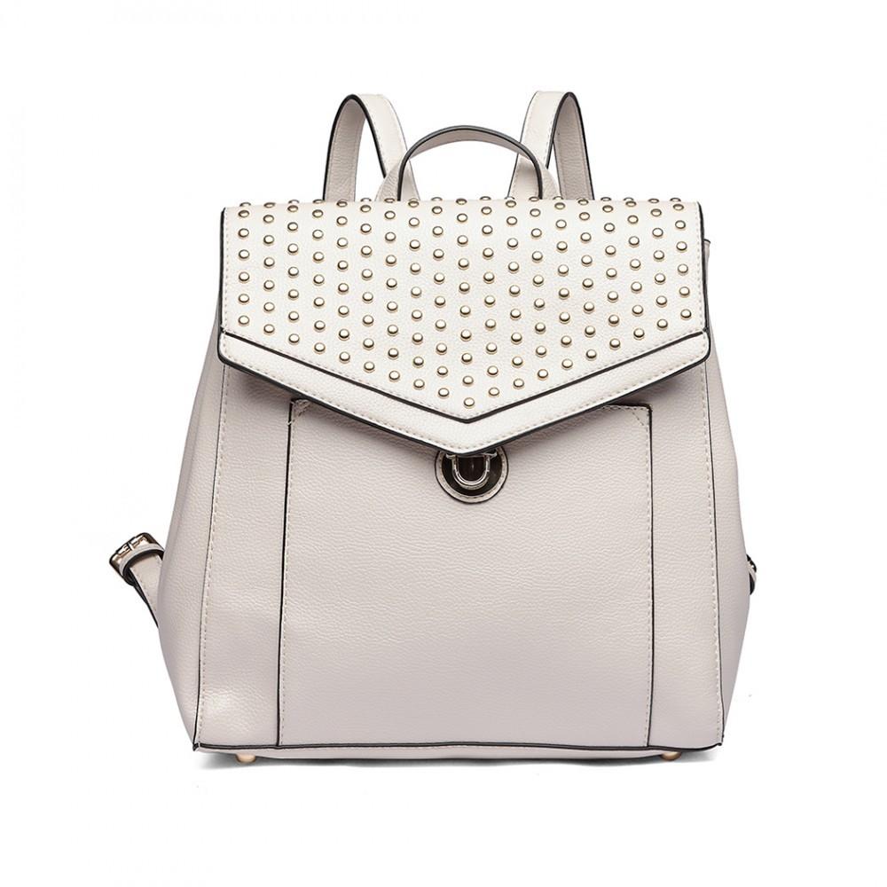 Béžový stylový dámský městský batoh Paulen dbf77d1689