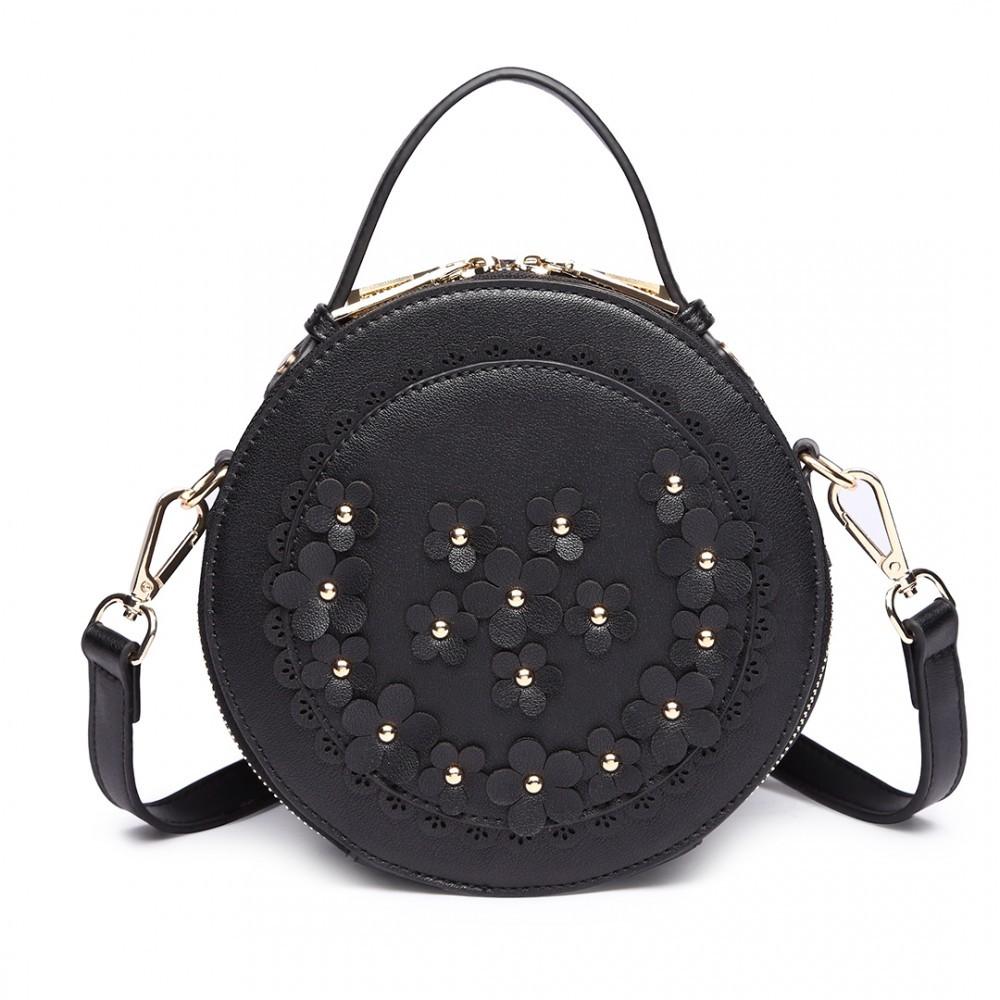 dcf675f935 Černá kulatá moderní dámská crossbody kabelka Jandern Toto zboží si právě  prohlíží 18 zákazníků. Previous. LT1818 BK
