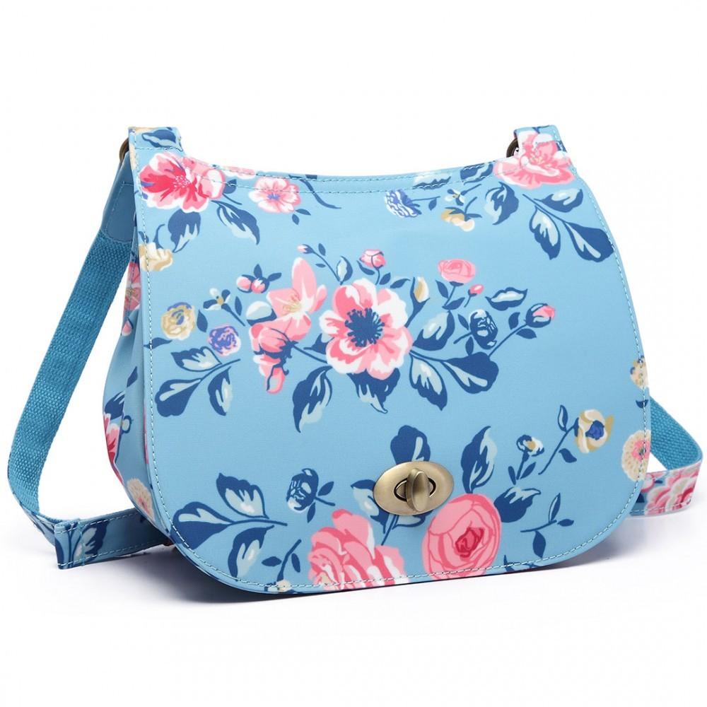 Modrá originální květinová dámská crossbody Reddel